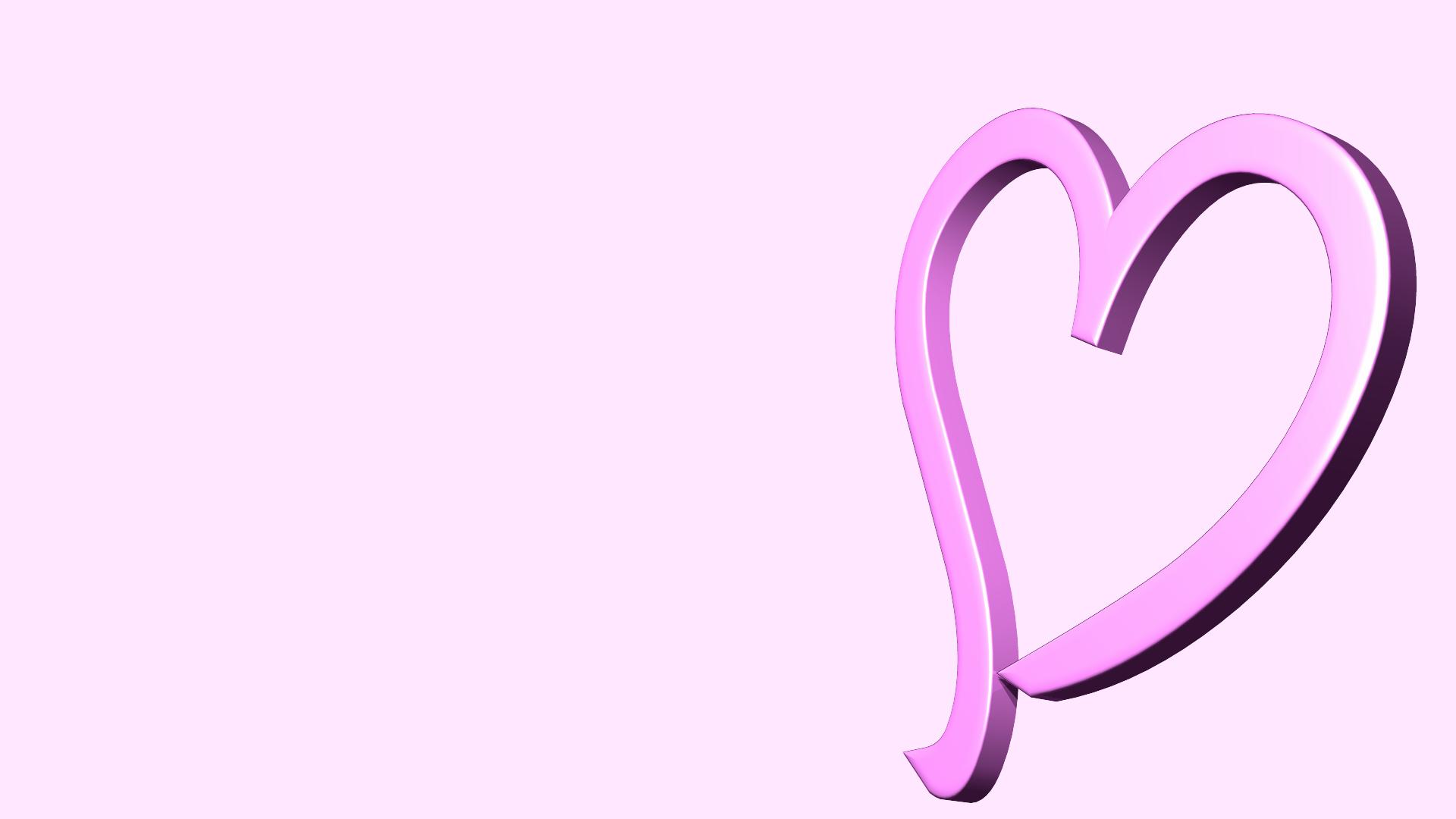 背景ピンクの3dハートの画像 ジーソザイ