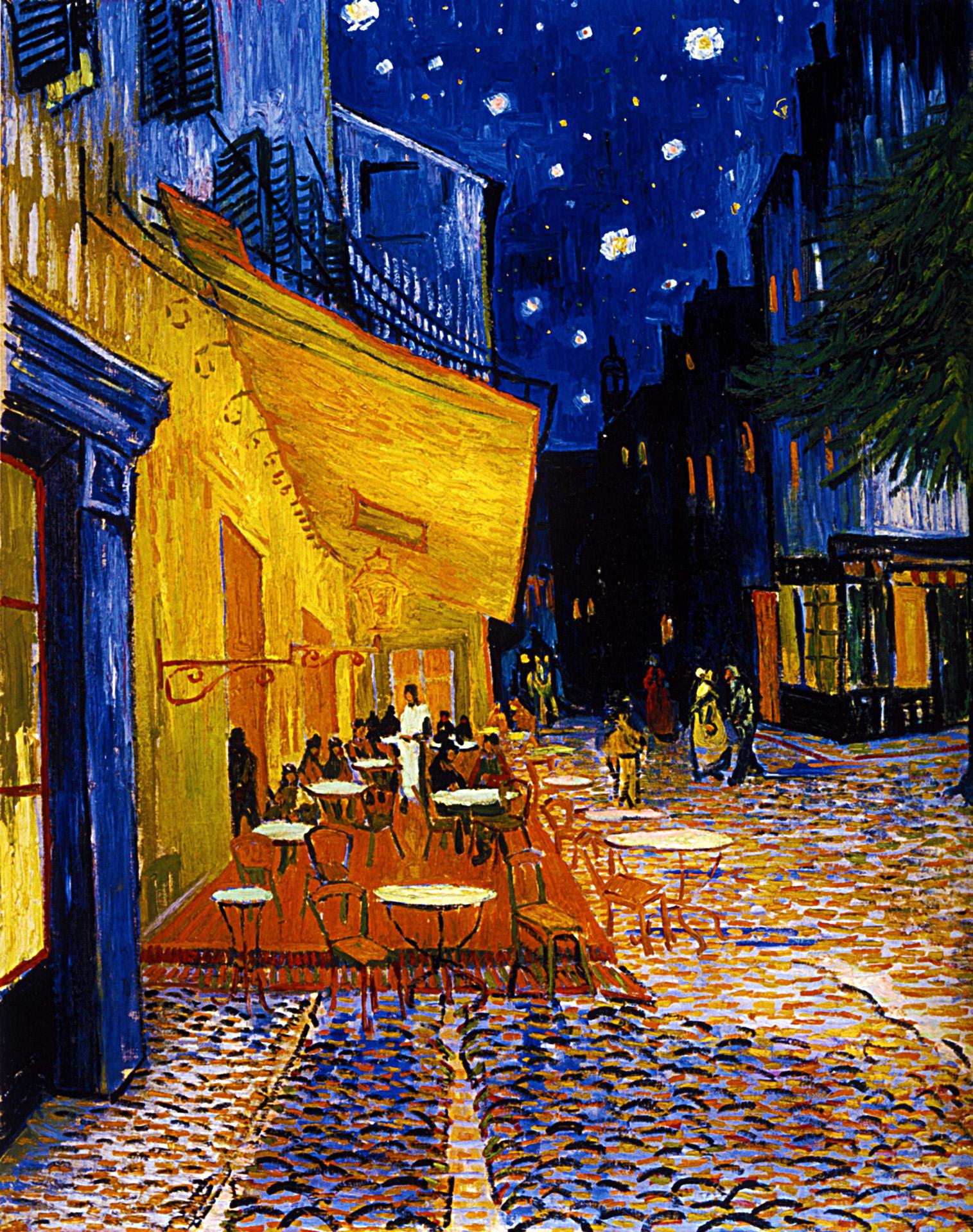 ゴッホ 夜のカフェテラス の画像 ジーソザイ